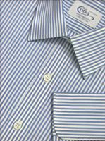 Mens Handmade Blue Bengal Shirt With Classic