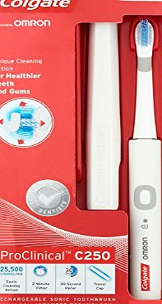Colgate ProClinical C250 Rechargeable Electric Toothbrush - White