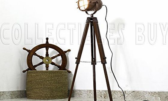 Collectibles Buy Copper finish antique tripod lamp portable office ligting décor low floor lamps