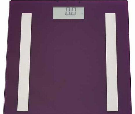 Glass Body Analyser Scales - Purple