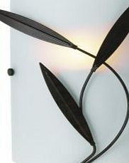 Cloe Chocolate Frosted Effect Single Wall Light