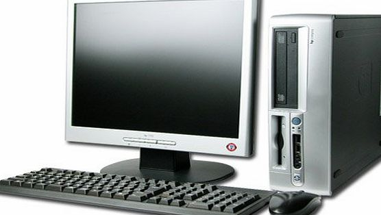 HP Compaq DC5150 Internet Ready Desktop Computer Full System - AMD 3.2Ghz Processor - 2Gb Memory - 80Gb hard disk - DVDROM - Wireless enabled - 17`` Inch Flat screen monitor - Windows XP operating syst