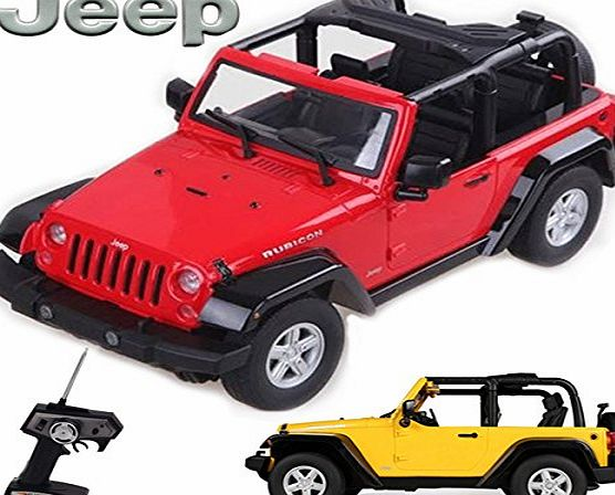 Comtechlogic CM-2138 Official Licensed 1:9 Scale Jeep Rubicon Rechargeable Radio Controlled RC Electric Car Ready to Run EP RTR - RED