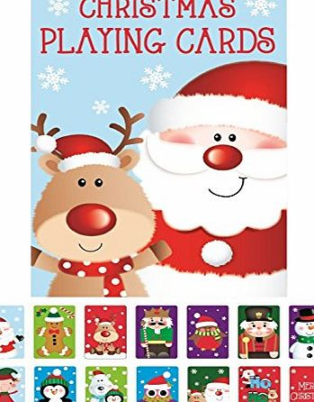 Concept4u Novelty Christmas Playing Cards Party Stocking Bag Filler Snap Xmas Toy Children Family Game