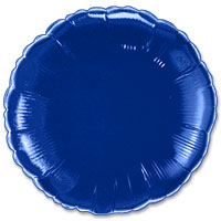 Electric blue round foil balloon 18
