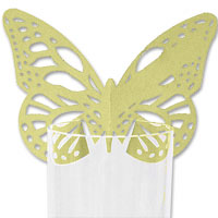 Gold lasercut butterfly place card pk 10