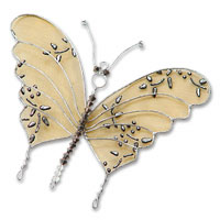 medium gold wire butterfly