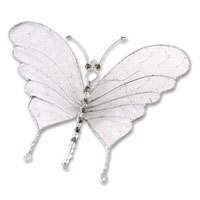 medium silver wire butterfly