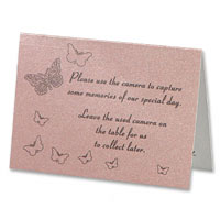 Pink pearl butterfly camera card pk of 10