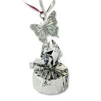 Silver Butterfly balloon weight