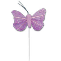 small purple glitter butterfly pack of 24