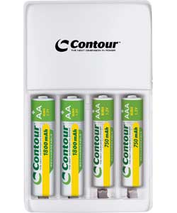 Contour 2 Hour Smart Battery Charger with 2 x AA