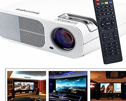 Convenientrade Sourcingbay BL-20 LED Video Projector,2600 Lumens, Home Theater Multimedia USB/HDMI/TV/AV/YPBPR/VGA/Audio with Remote Control-White