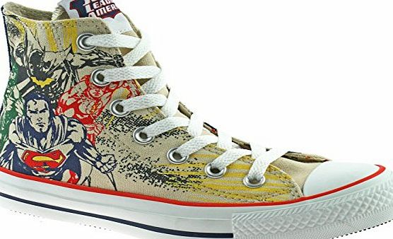 Converse All Star Hi DC Comics Justice League Angora/Estate Blue Shoe 132440 (UK3)