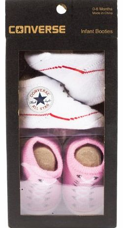 Converse Baby Girls Pink Bootie Set Size 1SIZE