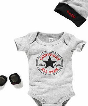 Converse Charcoal 3 Piece Baby Gift Set - 0-6