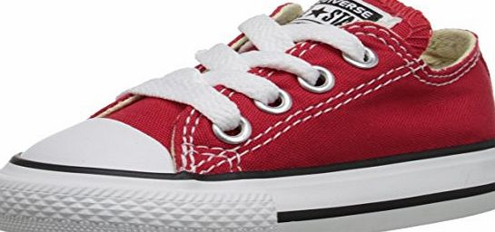 Converse Chuck Taylor All Star Core Ox, Unisex Kids Trainers, Red, 1 UK (33 EU)