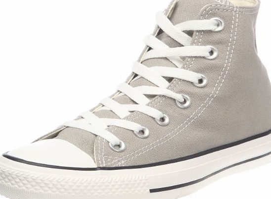 Converse Chuck Taylor All Star Hi 142368F Unisex Laced Canvas Trainers Silver - 7