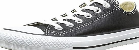 Converse Chuck Taylor Core Lea Ox Unisex-Adult Trainers Black/White Size: 9 UK