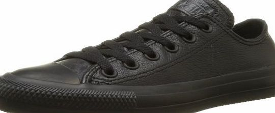 Converse  Chuck Taylor All Star Mono Leather Ox, Unisex-Adult Trainers, Black Mono, 7 UK (40 EU)