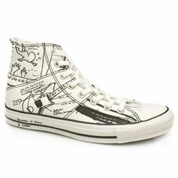 Male As Hi Kurt Cobain Fabric Upper in White and Black