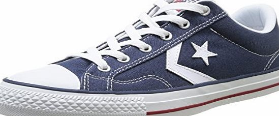 Converse Unisex-Adult Star Player Adulte Core Canvas OX Trainers 289162 10 Navy/White 10 UK, 44 EU