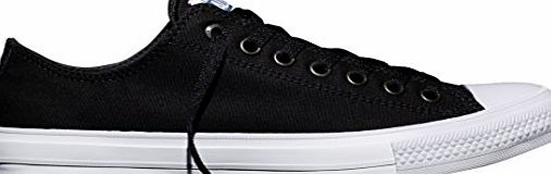 Converse Unisex Adults Chuck Taylor All Star Ii C150149 Low-Top Sneakers, Black (Black/White/Navy), 9.5 UK