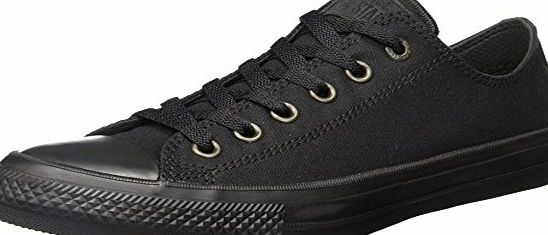 Converse Unisex Adults Chuck Taylor All Star Ii Low-Top Sneakers, Black (Black/Black/Black), 7 UK 40 EU