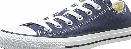 Converse Womens Chck Taylor All Star Ox Lace-Up Flats Blue Navy amp; White