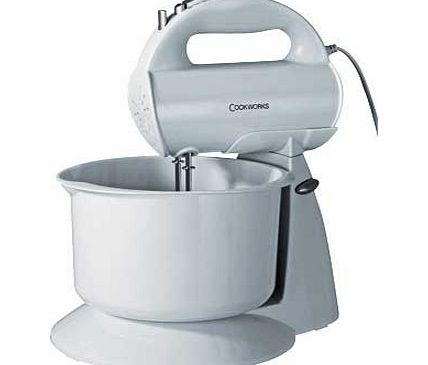 Cookworks HM729WB Hand Mixer with Bowl - White
