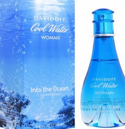 Cool Water Woman Cool Water Into The Ocean FOR WOMEN by Davidoff - 100 ml EDT Spray