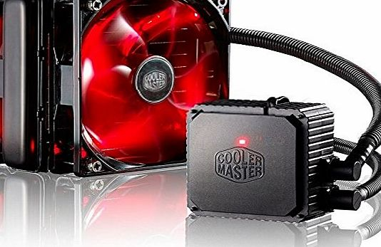 Cooler Master CPU Radiator Water Cooling Kit System with Double 120mm Red LED Quiet and Smart PWM Tower Fan, Liquid Cooling and 27mm thicken Drain keep PC Case and CPU Cooling - Seidon 120V V3 Tower F