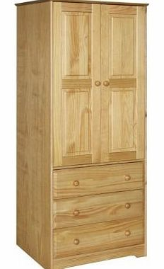 2 Door 3 Drawer Wardrobe