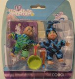 "Lil Handfuls Joseph And Elizabeth Small Dolls ( about 2.5"" inches tall) by Corgi"