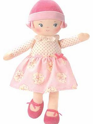 Corolle Rag Doll Pink Cotton Flower