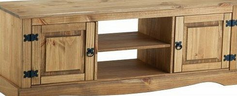Corona 2 Door Flat Screen TV Unit - Pine