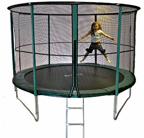 Cortez Premier 10ft Trampoline with Enclosure and FREE LADDER