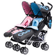 You2 Twin Stroller - Sis and Bro Pushchair