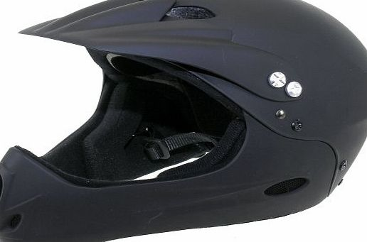 Ventura Full Face BMX Cycling Helmet Black 60-62cm