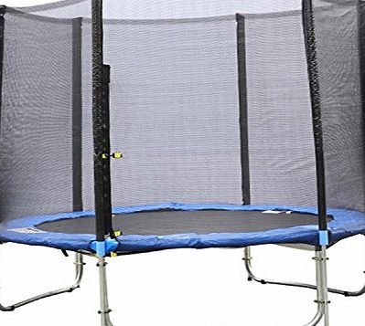 CRAVOG 10ft 12ft 13ft 14ft 15ft Replacement Trampoline Safety Net Enclosure Surround (Net Only) (12FT (366cm) Safety Net-6 Poles)