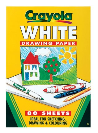Crayola a4 white drawing paper 80 sheets childrens gift for Buy blueprint paper