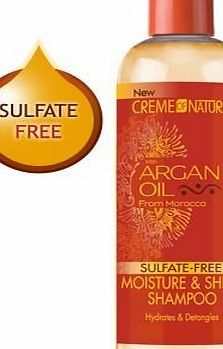 Cream of Nature ARGAN OIL MOISTURE amp; SHINE SHAMPOO SULFATE FREE 354ml
