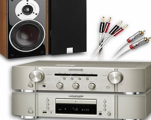 CA-FS10-SW Separates System (Marantz CD6005 CD player Silver + Marantz PM6005 amplifier / DAC Silver + DALI ZENSOR 1 speakers Walnut + £130 QED cable bundle). 2 Year Guarantee + Free ne