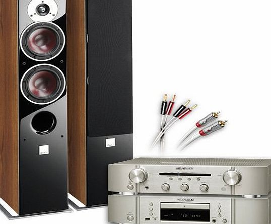 CA-FS11-SW Separates System (Marantz CD6005 CD player Silver + Marantz PM6005 amplifier / DAC Silver + DALI ZENSOR 5 speakers Walnut + £130 QED cable bundle). 2 Year Guarantee + Free ne