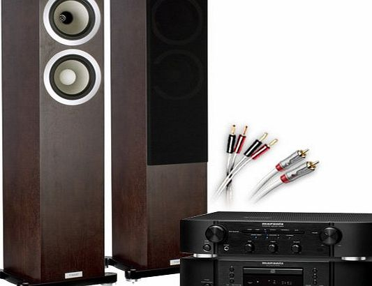 CA-FS12-B Separates System (Marantz CD6005 CD player Black + Marantz PM6005 amplifier / DAC Black + Tannoy DC6T SE speakers Espresso + £130 QED cable bundle). 2 Year Guarantee + Free ne