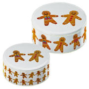 Tops Gingerbread Set Of 2 Cake Tins