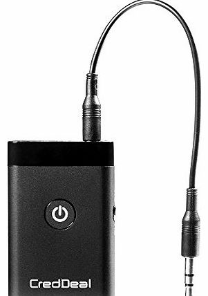 CredDeal Stereo Audio Music Bluetooth Receiver and Transmitter 2-In-1 Adapter for All 3.5 MM Audio Devices