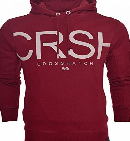 Crosshatch Mens Designer Casual Hooded Logo Top Hoody Fleece Sweatshirt Jacket Medium Dress Blue
