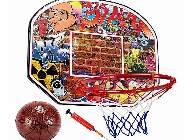 Crown Sporting Goods Urban Graffiti 12`` Mini Basketball ...
