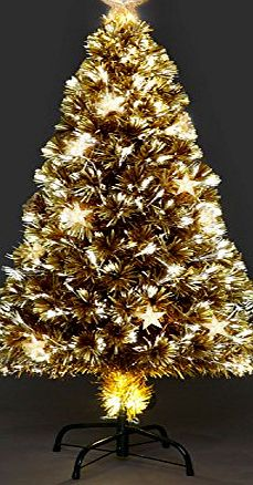 CTL Champagne Star Fibre-Optic Christmas Tree 5FT /150cm